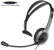 Panasonic Hands-Free Headset with Foldable Comfort Fit Lightweight Headband & Flexible Optimum Voice Microphone with Volume Control & Mute Switch For