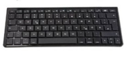 AmazonBasics - Tastiera Bluetooth QWERTY (layout inglese) con mini supporto da viaggio per Apple iPad / iPhone, colore: Nero