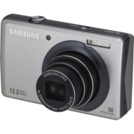 Samsung - 12.2 Megapixel 5X Optical Zoom Digital Camera - Silver
