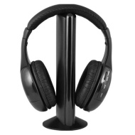 Sly 6-IN-1 Wireless Headphones And Transmitter with FM Radio & Microphone