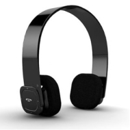 7dayshop R7 Premium Foldable Bluetooth Stereo Headphones / Handsfree Headset With Touch Button - Piano Black - Travel Case Included!