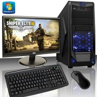 ADMI GAMING PC PACKAGE: Powerful Desktop Computer, 21.5 Inch 1080p Monitor with Speakers, Keyboard & Mouse Set (PC SPEC: AMD A4-6320K 4.1GHz Dual Core