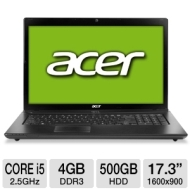 Acer Aspire AS7750G-6645 NX.RVHAA.002 Notebook PC - Intel Core i5-2450M 2.5GHz, 4GB DDR3, 500GB HDD, DVDRW, AMD Radeon HD 7670M, 17.3 Display, Windows