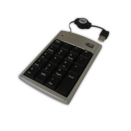 Adesso 19 Key Numeric Keypad with Retractable Cord - USB (AKP-150)