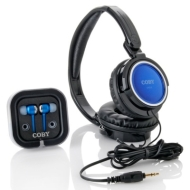 Coby Jammerz On-Ear & In-Ear 2-in-1 Headphone Pack