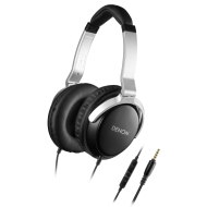 Denon AH-D510R Mobile Elite Over-Ear Headphones with 3 Button Remote and Mic (Black)