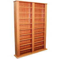 GENESIS - Multimedia CD DVD Blu-ray Storage Shelves - Pine
