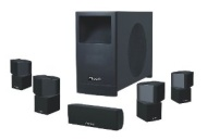 5.1 Channel Home Theater Audio System Four Satellite, Center Channel and 10-Inch 200W RMS Passive Subwoofer (Ricco® RTS3304 Piano Black)