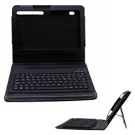 Portable Portfolio Stand Bluetooth Keyboard + Leather Carring Case For Motorola Xoom Tablet
