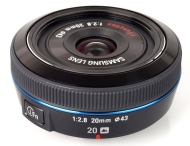 Samsung 20mm F/2.8 Lens for NX10/NX100 - EX-W20NB