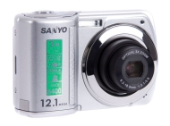 Sanyo VPC-S122 Camera 12 Megapixel 3x Optical Zoom 2.7 inch LCD Screen Silver