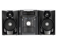 Sharp - 240W 5-Disc Compact Stereo/2-Way Speaker System - Black CDDH950P