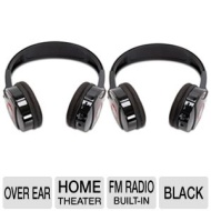 SHP921-2 Dual Wireless Headphones - Black (Over-the-Ear)