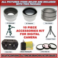 10 PC SUPER ACCESSORY KIT FOR FUJI S5100 S5000 +WA TELE