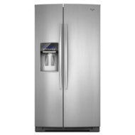 WSF26C2EXY Whirlpool 26 cu. ft. ENERGY STAR Qualified Side-by-Side Refrigerator - Monochromatic Stai
