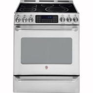 "GE Cafe 30"" Slide-In Electric Range CS980SN"