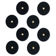 New Set of 8 Black Rubber Large Speaker DJ PA Cabinet Feet F615