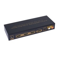 Panlong® HDMI 1.4 Switch Switcher Box Selector 3 In 1 Out HDMI Audio Extractor Splitter with Optical SPDIF & RCA L/R Audio Out & Remote Control Suppor