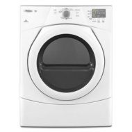 Whirlpool - Duet 6.7 Cu. Ft. 9-Cycle Electric Dryer - White WED9151YW