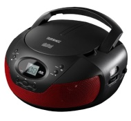Duronic RCD008/RD Portable Compact Boombox CD Player with FM Radio -Red