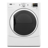 "Performance MGDE201YW 27"" Front-Load Gas Dryer with 6.7 cu. ft. Capacity, 9 Wash Cycles, 5 Te"