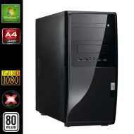 Sedatech - PC Multimedia, Desktop (AMD A4-5300 2x3,4Ghz , Radeon HD7480D, 8Gb RAM, 1000Gb HDD, 120Gb SSD, USB 3.0, Full HD 1080p, 80+ PSU)