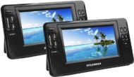 "Sylvania 7"" Dual Screen Portable DVD Player with Dual DVD Players, SDVD8791"
