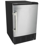 EdgeStar 12 Lbs. Built-In Ice Maker - Stainless Steel/Black