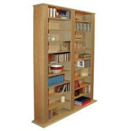 GENESIS - Multimedia CD DVD Blu-ray Storage Shelves - Oak