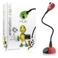 Hue Animation Studio for Windows PCs (Red): complete stop motion animation kit with camera