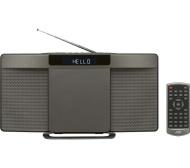 JVC RD-D227B Wireless Flat Panel Hi-Fi System - Gun Metal