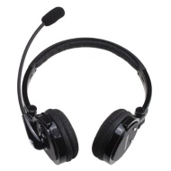 AGPtek® 2 in 1 Stereo Handsfree Headset Boom Mic Noise Canceling Wireless Bluetooth Headphone For Cellphones iPhone 4S iPad PC PS3 Skypeluetooth Headp