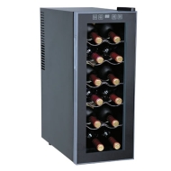 Sunpentown 12 Bottle Single Zone Freestanding Wine Refrigerator