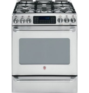 "GE Cafe 30"" Slide-In Gas Range CGS980S"