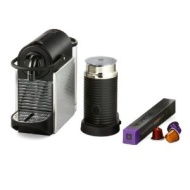 Nespresso Pixie With Aeroccino by Magimix Electric Aluminium