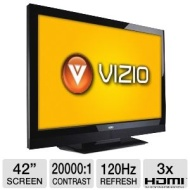 Vizio E3D420VX 42 Class LCD 3D HDTV - 1080p, 1920 x 1080, 120Hz, 200000:1 Dynamic, 5 ms, HDMI, USB, Built-in 802.11n Wi-Fi, VIZIO Internet Apps, Energ