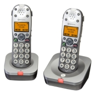 Amplicomms Powertel 702 Big Button Twin Cordless Amplified DECT Telephone - Anthracite
