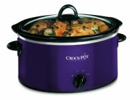 Crockpot, 3.5ltr Crockpot Slow Cooker - Aubergine With Black Trim