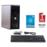 Dell OptiPlex 760 MT Core 2 Duo 3.33GHz 4096MB Ram 750GB HDD DVDRW Win 7 Professional Computer
