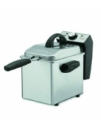 Waring DF55 Professional Mini 1-2/7-Pound-Capacity Stainless-Steel Deep Fryer