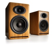 Audioengine AP4N Bamboo (Pr) 2-Way Passive Bookshelf Speakers