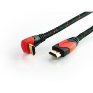High Speed HDMI Cable with Ethernet 1.5m - with 90 degree Right Angle - Supports 3D, 4K x 2K, Audio Return Channel and full HD (Latest technology and