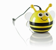 KitSound Mini Buddy Enceinte compatible avec iPod/iPad 2/3/iPhone 3G/3GS/4/4S/5/appareils Android Bee