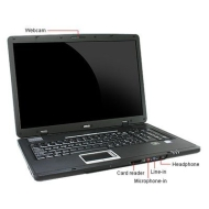 MSI MS-171F 17-Inch WXGA, Barebone/Built-in Super-Multi ODD Laptop