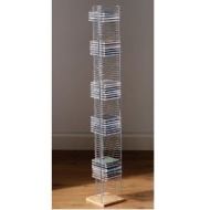 TOWER - Free Standing CD Storage Rack - Silver