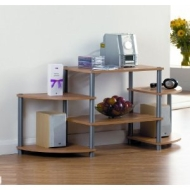 Core. 6 Shelf T.V. Entertainment Unit. Beech Effect