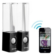 Pixnor Wireless Bluetooth Colorful LED Fountain Dancing Water Mini Speakers for iPhone / iPad / Cellphone / PC (Black)