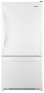 GX2FHDXVQ Whirlpool Energy Star 22 Cu. Ft. French Door Bottom Freezer Refrigerator - White