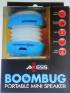 Axess SPLW11-9 Boombug Wired Mini Portable Speaker with Rechargeable Battery (Orange)