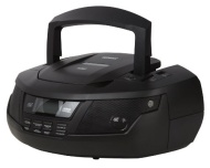 Duronic RCD99B CD Player 4-Wege-Lautsprecher Boombox mit Uhr, FM-Radio, Flash-Speicher und SD-Karte MP3-Wiedergabe, Kopfhörerbuchse , und verbinden un